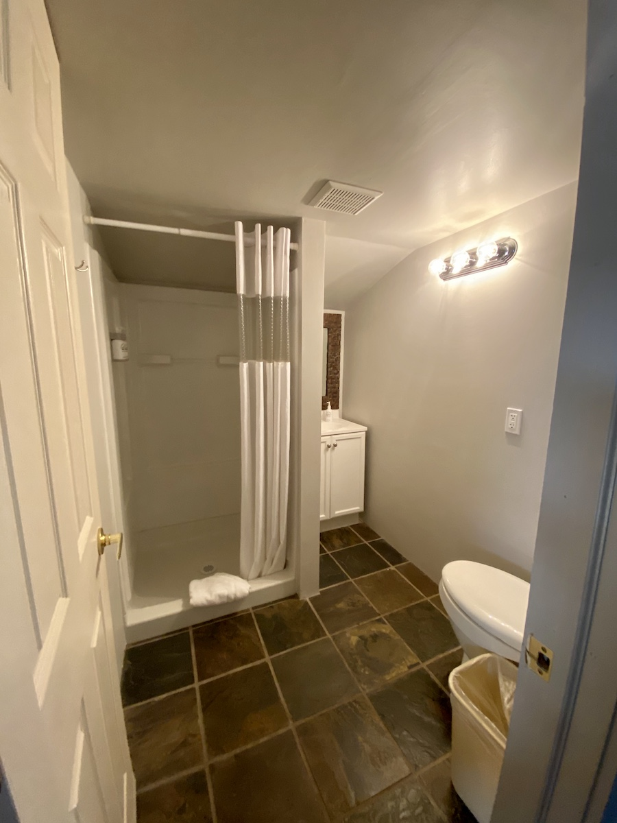 the loft bathroom